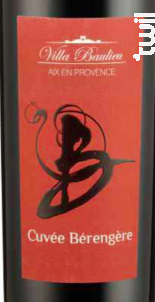 Cuvée Bérangère - Villa Baulieu - 2015 - Rouge