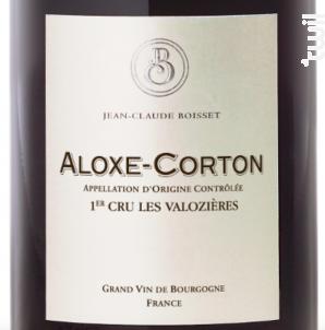 Aloxe-Corton Premier Cru Les Valozières - Jean-Claude Boisset - 2016 - Rouge