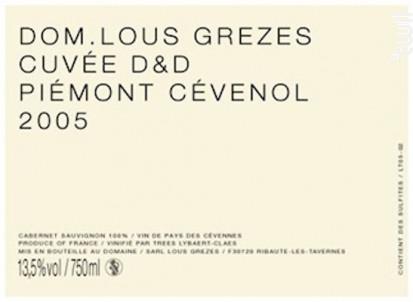 D&D - Domaine Lous Grezes - 2010 - Rouge