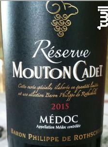 Mouton Cadet Réserve Médoc - Baron Philippe De Rothschild - 2015 - Rouge