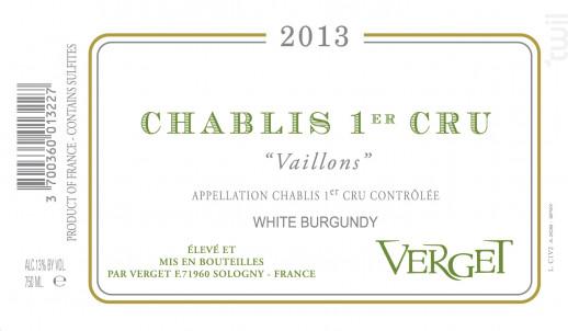 Chablis Premier Cru Vaillons - Verget - 1997 - Blanc