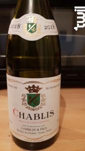 Chablis - Michel Lamblin et Fils - 2018 - Blanc