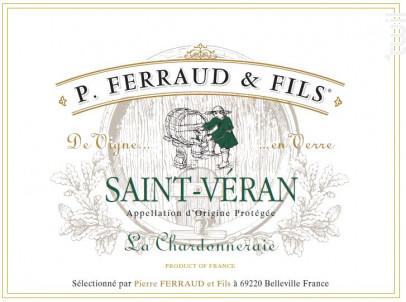 La Chardonneraie - P. Ferraud & Fils - 2018 - Blanc