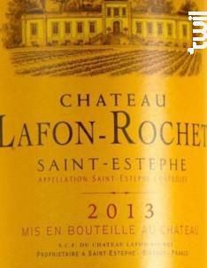 Château Lafon-Rochet - Château Lafon-Rochet - 2013 - Rouge