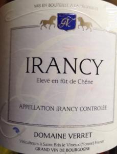 Irancy - Domaine Verret - 2000 - Rouge