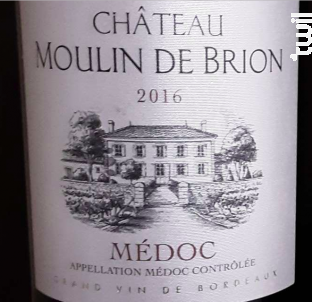 Château Moulin de Brion - Château Moulin de Brion - 2016 - Rouge