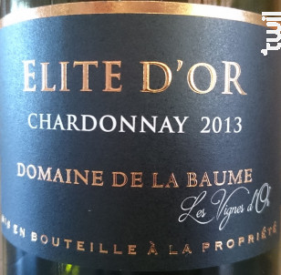 Elite d'Or - DOMAINE DE LA BAUME - 2016 - Blanc