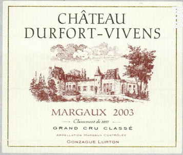 Château Durfort-Vivens - Château Durfort-Vivens - 2003 - Rouge