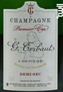 Tribaut, Premier Cru, Demi-sec - Champagne G.Tribaut - Non millésimé - Blanc