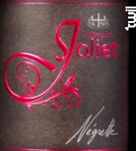 100% Négrette - Château Joliet - 2018 - Rouge