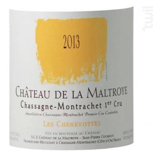 Chassagne Montrachet 1er Cru - Les Chevenottes - Château de la Maltroye - 2013 - Blanc