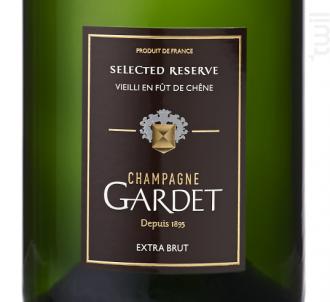 SELECTED RESERVE EXTRA BRUT - 100% Fût de Chêne - Champagne Gardet - Non millésimé - Effervescent