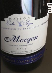 Morgon Terroir - Maison Colin Seguin - 2013 - Rouge