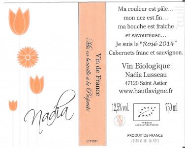 Nadia - Château Haut Lavigne - 2017 - Rosé