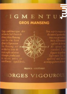 Pigmentum Gros Manseng Moelleux - Georges Vigouroux - Pigmentum - 2018 - Blanc