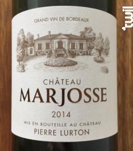 Château Marjosse - Château Marjosse - 2014 - Rouge
