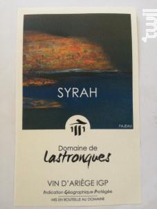Syrah - Domaine de Lastronques - 2018 - Rouge