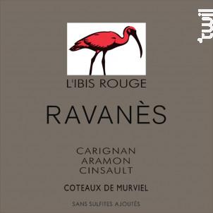 L'Ibis Rouge- Sans sulfites - Domaine de Ravanès - 2018 - Rouge
