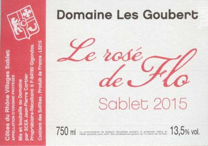 Le Rosé de Flo - Domaine Les Goubert - 2017 - Rosé