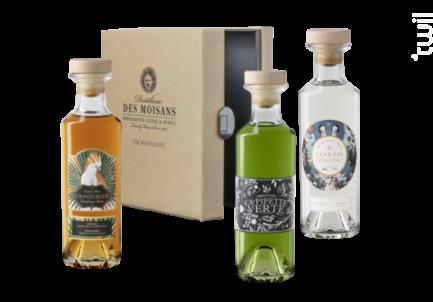 Coffret The Mixologist 3x20cl Rhum Canoubier Gin Ginetic Absinthe La Pipette Verte - Distillerie des Moisans - Non millésimé - Blanc