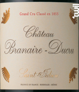 Château Branaire-Ducru - Château Branaire-Ducru - 2018 - Rouge