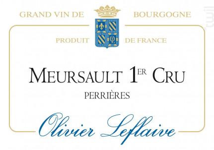 Meursault Premier Cru Perrières - Maison Olivier Leflaive - 2012 - Blanc