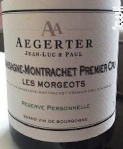 Chassagne-Montrachet 1er Cru Les Morgeots - Jean Luc et Paul Aegerter - 2012 - Blanc