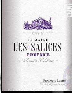 Domaine Les Salices Pinot Noir - François Lurton - Domaine Les Salices - 2015 - Rouge