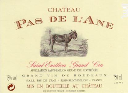 Château Pas de l'Ane - Château Pas de l'Ane - 2007 - Rouge