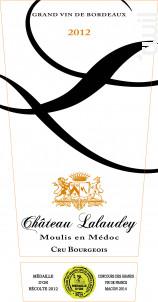 CHATEAU LALAUDEY - Vignobles Lalaudey et Pomeys - 2012 - Rouge