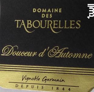 Douceur d'automne - Domaine des Tabourelles - 2015 - Blanc