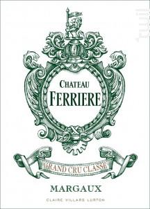Château Ferrière - Domaines Claire Villars Lurton - Château Ferrière - 2015 - Rouge