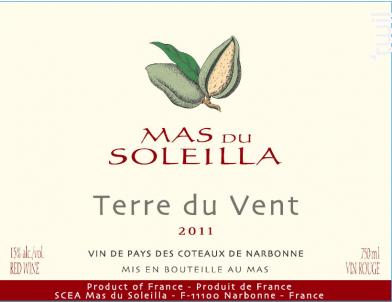 Terre du Vent - Mas du Soleilla - 2011 - Rouge