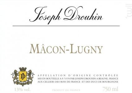 Mâcon-Lugny - Maison Joseph Drouhin - 2016 - Blanc