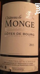 Château La Monge - Château La Monge - Vignobles Bourdillas - 2016 - Rouge