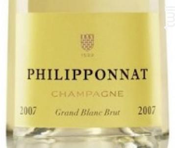 Grand Blanc Brut Millésimé - Champagne Philipponnat - 2010 - Effervescent