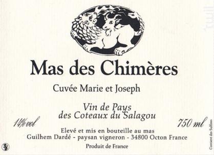 Cuvée Marie et Jospeh - MAS DES CHIMERES - 2016 - Rouge
