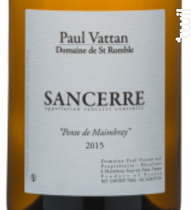 Sancerre Pente de Maimbray - Domaine de Saint Romble-Paul Vattan - 2016 - Blanc