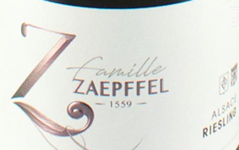 Riesling - Famille Zaepffel - 2018 - Blanc