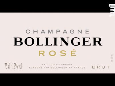 Rosé Brut - Champagne Bollinger - Non millésimé - Effervescent