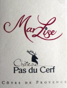 Marlise - Château Pas du Cerf - 2011 - Rouge