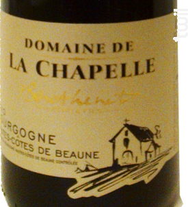 Bourgogne Hautes Côtes De Beaune - Domaine Chapelle - 2015 - Rouge