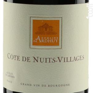 Côte de Nuits-Villages - Domaine d'Ardhuy - 2017 - Rouge