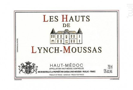 Les Hauts de Lynch-Moussas - Château Lynch-Moussas - 2015 - Rouge