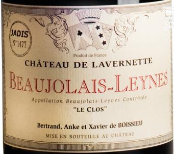 Beaujolais Leynes - Cuvée Jadis - Château de Lavernette - 2016 - Rouge