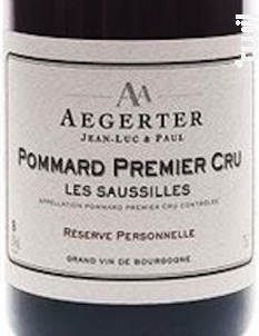 Pommard 1er Cru Les Saussilles - Jean Luc et Paul Aegerter - 2015 - Rouge