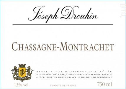 Chassagne-Montrachet blanc - Maison Joseph Drouhin - 2011 - Blanc