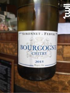 Bourgogne Chitry - Simonnet Febvre - 2015 - Blanc