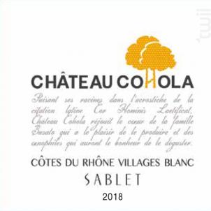 Château Cohola - COHOLA - 2018 - Blanc