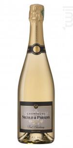 Brut Chardonnay - Champagne Nicolo et Paradis - Non millésimé - Effervescent